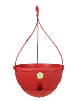 Suspension ANTHEA diametre 36cm H27cm rouge - RIVIERA