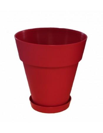 Pot et soucoupe JAIME diamètre 35cm H37cm- CHAPELU-Cerise
