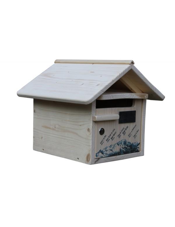 boite aux lettres bois creastuce altitude 1 porte. Black Bedroom Furniture Sets. Home Design Ideas