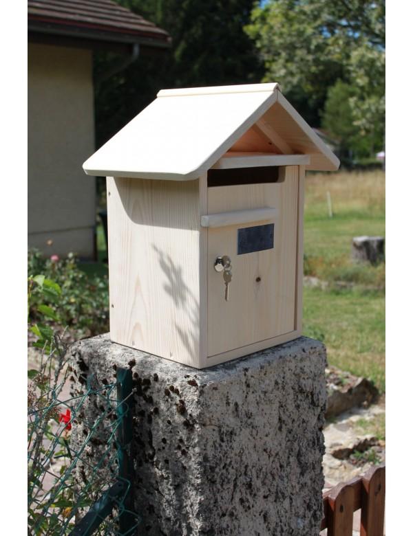 boite aux lettres bois creastuce condamine 1 porte. Black Bedroom Furniture Sets. Home Design Ideas