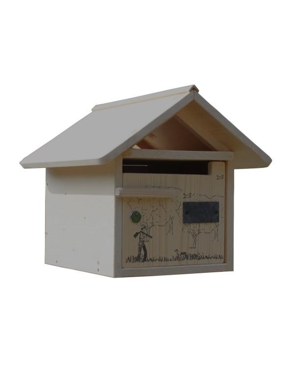 boite aux lettres bois creastuce jour de chasse 1 porte. Black Bedroom Furniture Sets. Home Design Ideas