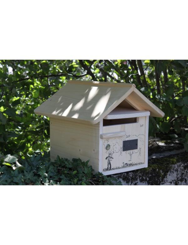 boite aux lettres bois creastuce jour de chasse 1 porte ebay. Black Bedroom Furniture Sets. Home Design Ideas