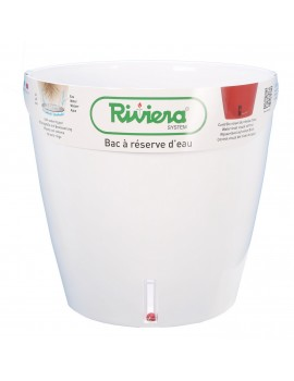 Pot EVA rond diametre 46cm blanc- RIVIERA