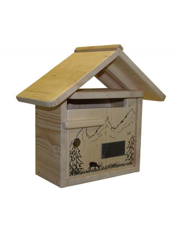 boite aux lettres bois creastuce la combe aux cerfs courte. Black Bedroom Furniture Sets. Home Design Ideas