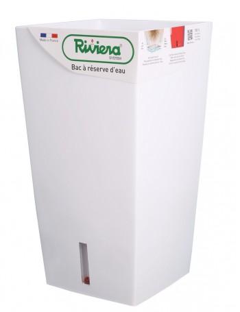 Pot EVA carré haut 52cm blanc - RIVIERA