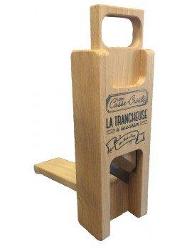 Trancheuse / Guillotine à saucisson - Hêtre massif - décorée