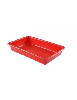 BAC PLAT ALIMENTAIRE 2 Litres ROUGE - GILAC