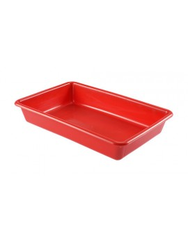 BAC PLAT ALIMENTAIRE 10 Litres ROUGE - GILAC