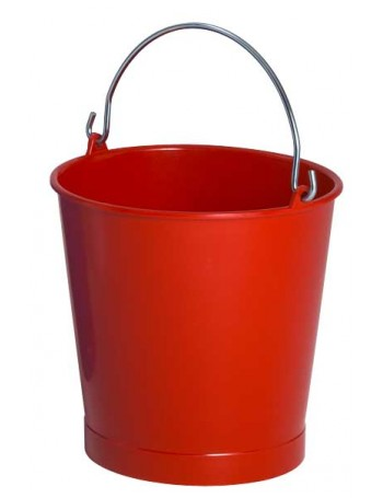 SEAU 10 Litres ROUGE ANSE INOX - GILAC