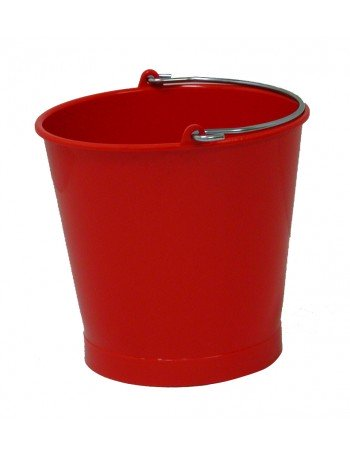 SEAU 13 Litres ROUGE ANSE INOX - GILAC