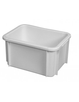 BAC RECTANGULAIRE EMPILABLE 15 Litres BLANC - GILAC