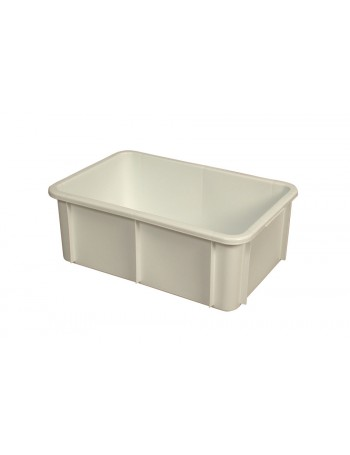 BAC RECTANGULAIRE EMPILABLE 35 Litres BLANC - GILAC