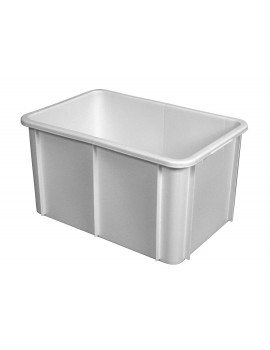 BAC RECTANGULAIRE EMPILABLE 55 Litres BLANC - GILAC