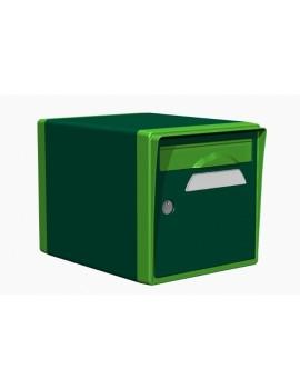 Boite aux lettres 1 porte vert foret-vert mai - CREASTUCE-01-SF