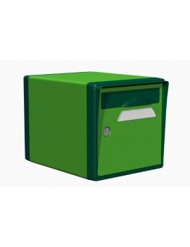 Boite aux lettres 1 porte vert mai-vert foret - CREASTUCE-02-SF