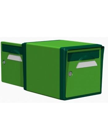 Boite aux lettres 2 portes vert mai-vert foret - CREASTUCE-02-DF
