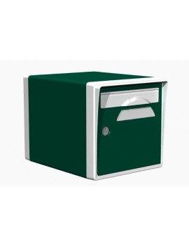 Boite aux lettres 1 porte vert foret-blanche - CREASTUCE-03-SF