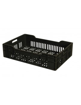 CAISSE 600x400 AJOUREE 25 Litres GRIS - GILAC