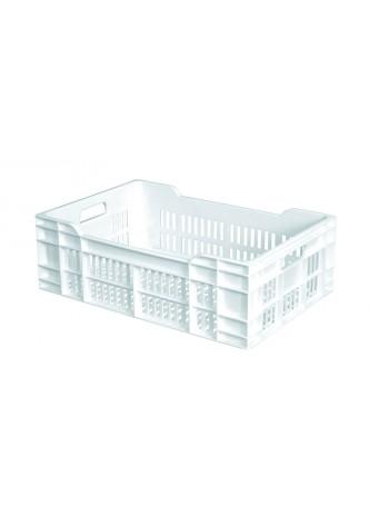 CAISSE 600x400 AJOUREE 40 Litres BLANC - GILAC