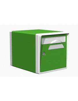 Boite aux lettres 1 porte vert mai-blanche - CREASTUCE-05-SF