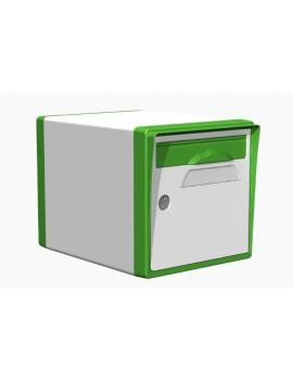 Boite aux lettres 1 porte blanche-vert mai - CREASTUCE-06-SF