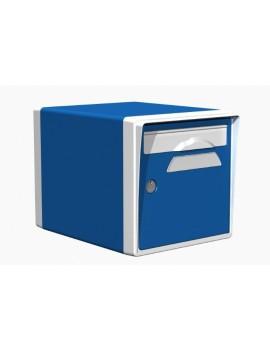 Boite aux lettres 1 porte bleue-blanche - CREASTUCE-09-SF