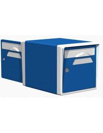 Boite aux lettres 2 portes bleue-blanche - CREASTUCE-09-DF