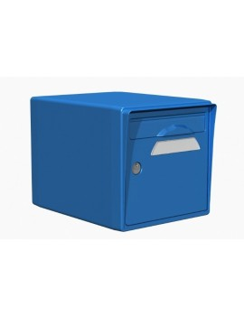Boite aux lettres 1 porte bleue - CREASTUCE-15-SF