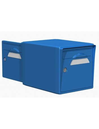 Boite aux lettres 2 portes bleue - CREASTUCE-15-DF