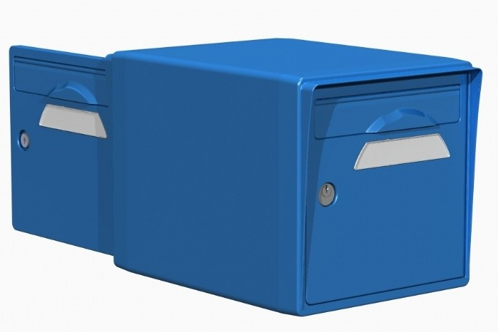 CREASTUCE-15-DF Boite aux lettres 2 portes bleue