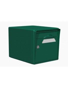 Boite aux lettres 1 porte vert foret - CREASTUCE-16-SF