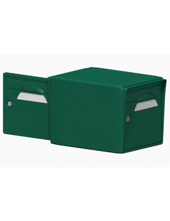 Boite aux lettres 2 portes vert foret - CREASTUCE-16DF