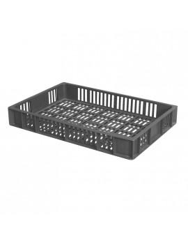 CAISSE 600x400 AJOUREE 15 Litres GRIS - GILAC