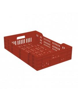CAISSE 600x400 AJOUREE 25 Litres BRIQUE - GILAC