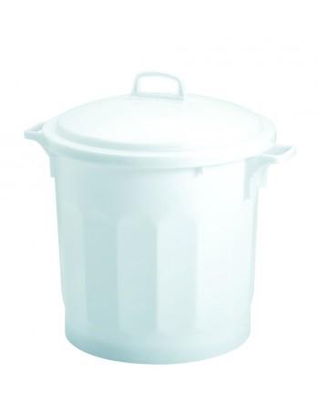 CONTENEUR 50 litres BLANC avec COUVERCLE - GILAC