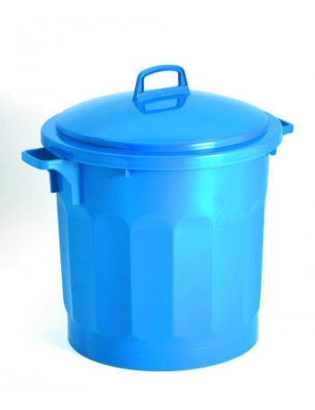 CONTENEUR 50 litres BLEU avec COUVERCLE - GILAC