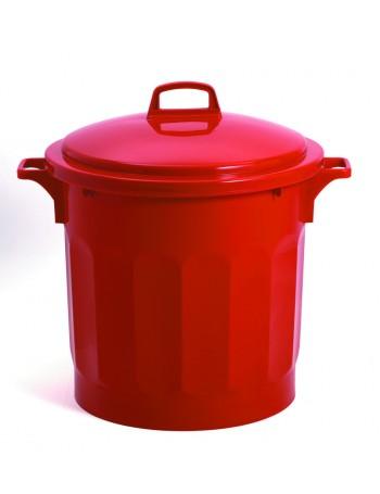 CONTENEUR 50 litres ROUGE avec COUVERCLE - GILAC