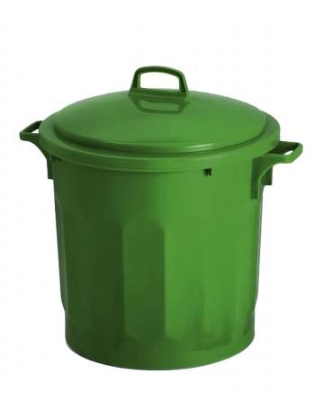 CONTENEUR 50 litres VERT avec COUVERCLE - GILAC
