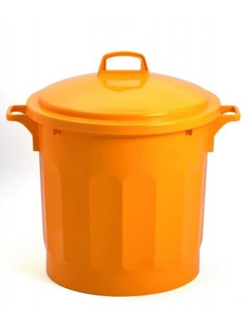 CONTENEUR 75 litres JAUNE avec COUVERCLE - GILAC