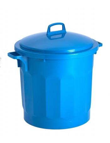 CONTENEUR 75 litres BLEU avec COUVERCLE - GILAC