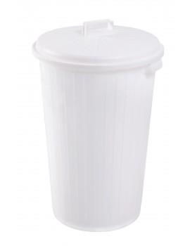 FOURRE-TOUT 35 litres BLANC avec COUVERCLE - GILAC