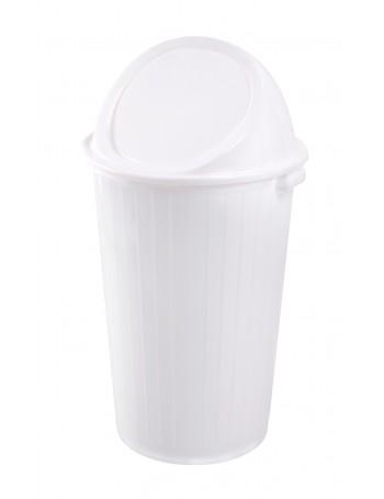 FOURRE-TOUT 35 litres BLANC avec COUVERCLE BASCULANT - GILAC