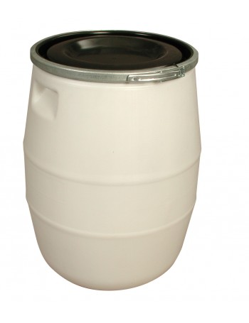 FÛT 100 litres BLANC, GENOUILLERE METAL et COUVERCLE NOIR - GILAC