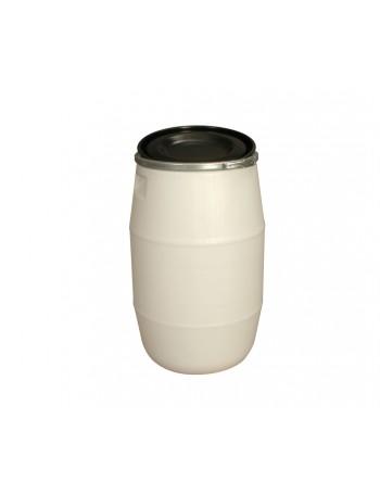 FÛT 120 litres BLANC, GENOUILLÈRE METAL et COUVERCLE NOIR - GILAC