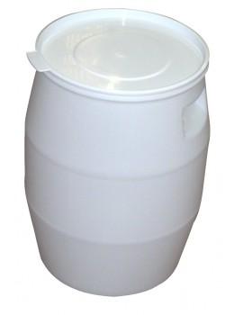 FÛT 50 litres BLANC et COUVERCLE LANGUETTE - GILAC