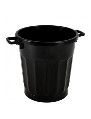 POUBELLE ECONOMIQUE 50 litres NOIR avec COUVERCLE - GILAC