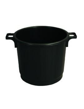 POUBELLE ECONOMIQUE 75 litres NOIR avec COUVERCLE - GILAC