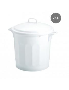 CONTENEUR 75 litres BLANC avec COUVERCLE - GILAC
