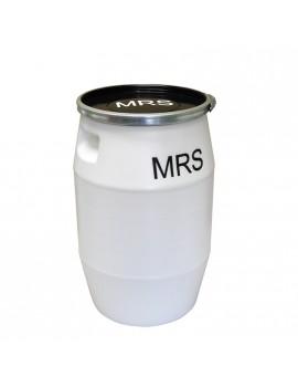 FÛT 50 litres MRS BLANC, GENOUILLÈRE METAL et COUVERCLE NOIR - GILAC