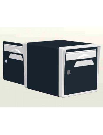 Boite aux lettres 2 portes Gris Anthracite-Blanche - CREASTUCE-07-DF